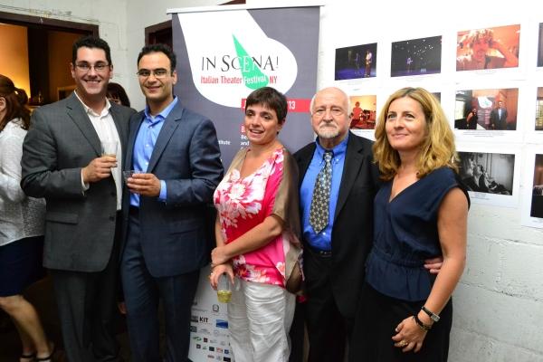 Kevin Albert, Nicola Iervasi, Laura Caparrotti, Mario Fratti Donatella Codonesu. Photo by Drew Rauso.