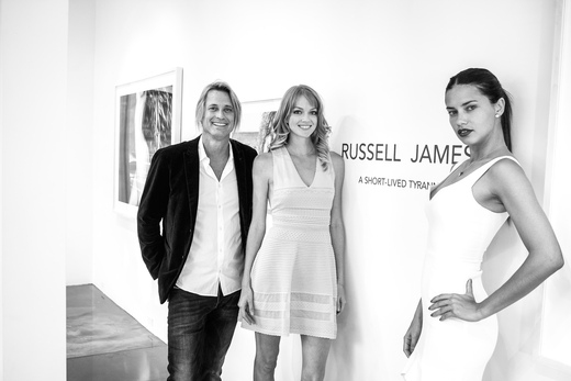 Russell James, Lindsay Ellingson and Adriana Lima