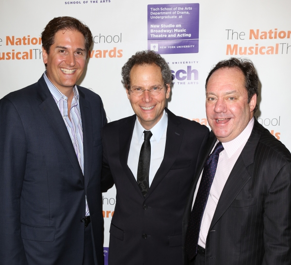 Nick Scandalios, Van Kaplan and James M. Nederlander  Photo