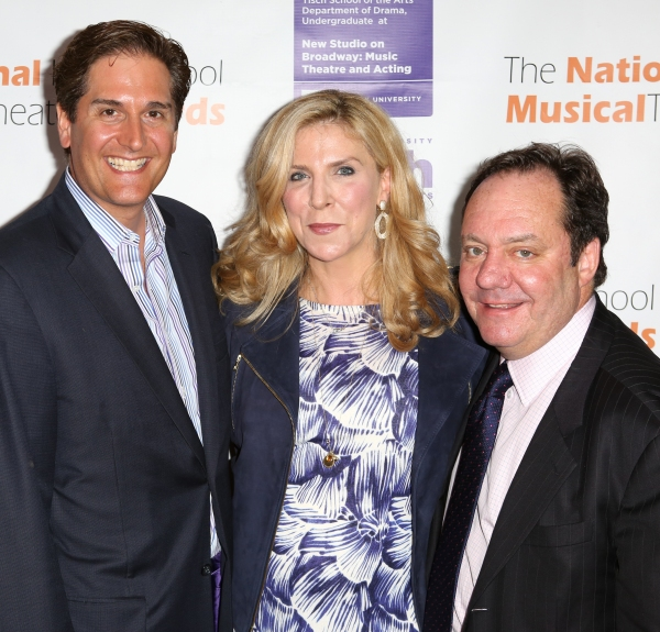 Nick Scandalios, Margo Nederlander and James M. Nederlander