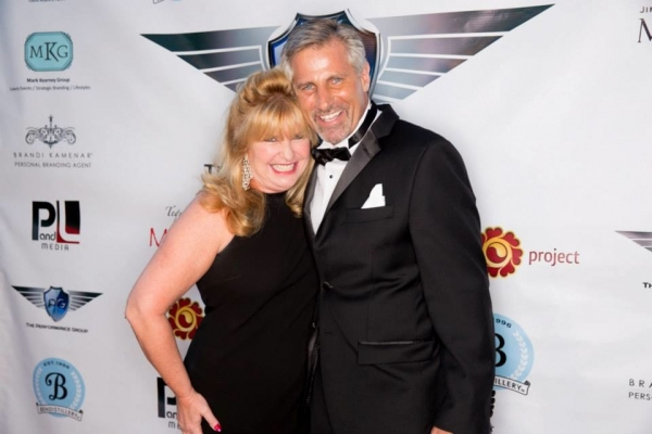 Celebrity booking coach Amy Lyndon (left) with The Performance Group founder Joel Landi (right)