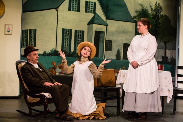 Jeff Rossman, Emma Nissenbaum, and Stacy-Lee Frome as Marilla Cuthbert
