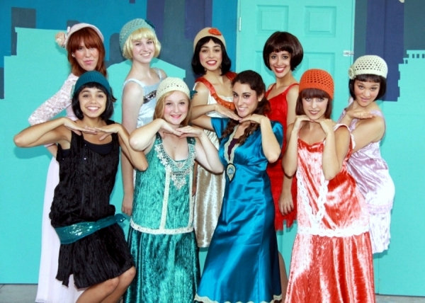 Back Row: Micah Lambert (Miss Dorothy Brown), Kelsey Chaykowski (Rita), Annie Ortiz (Cora), Kayla Atkinson (Millie Dillmount),  DeAna Abinante (Ruth), Front Row: Kayla Oritz (Lucille), Abigail Cash (Alice), Rebeca Abinante (Miss Dorothy Brown), Kelsey Sim