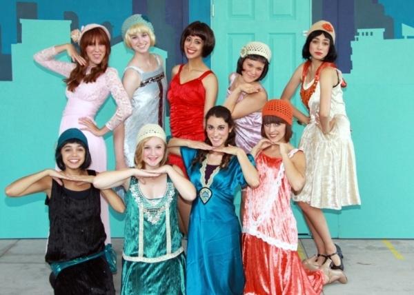 Back Row: Micah Lambert (Miss Dorothy Brown), Kelsey Chaykowski (Rita),  Kayla Atkinson (Millie Dillmount), DeAna Abinante (Ruth), Annie Ortiz (Cora) Front Row: Kayla Oritz (Lucille), Abigail Cash (Alice), Rebeca Abinante (Miss Dorothy Brown), Kelsey Simo