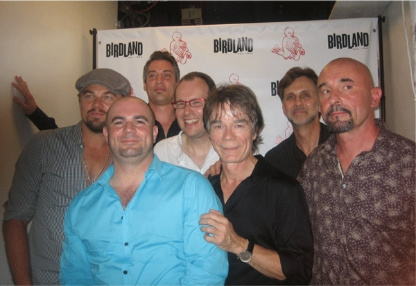 Leonardo DiCaprio, Kruno, Ludovic Beier, Pierre Blanchard (center/black), Brian Torff, DouDou Cuillerier, Samson Schmitt (front/blue)
