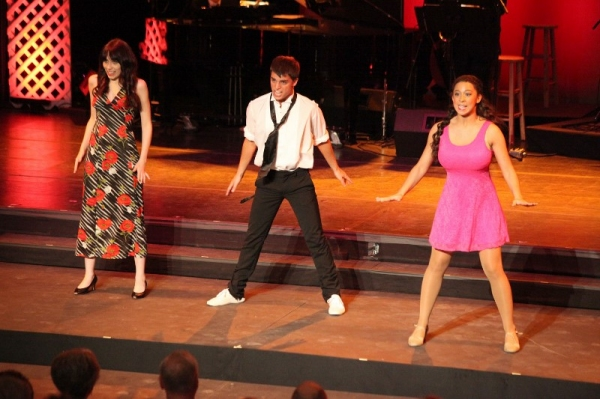 Chrissy Menfi, Louis Torres, and Kristina Lodesto perform at the  the Five Towns College Concert and  Naming Dedication Ceremony at Five Towns College in Dix Hills, (June 30, 2013)