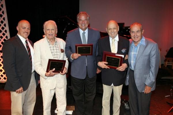 Producer James Beneduce ,Ervin Drake, Stewart F. Lane, Charles Strouse, and Dr.Stanle Photo