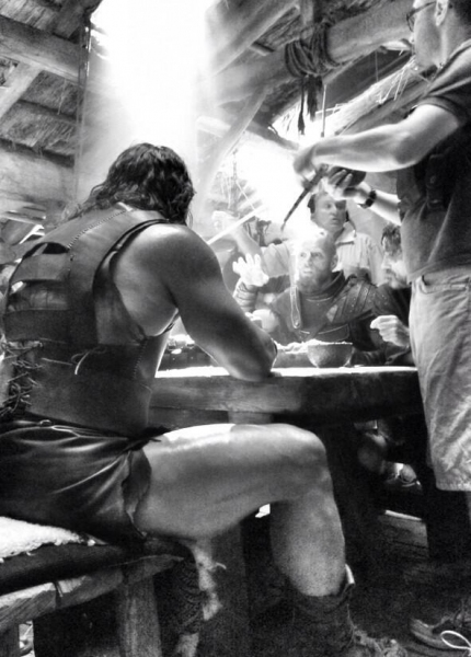 Dwayne Johnson and Company on the set of HERCULES Photo