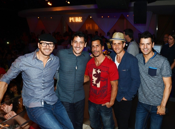 Donnie Wahlberg, Jonathan Knight, Danny Wood, Joey McIntyre and Jordan Knight