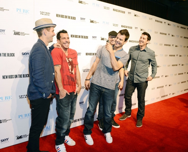 New Kids On The Block: Joey McIntyre, Danny Wood, Jordan Knight, Donnie Wahlberg, and Jonathan Knight