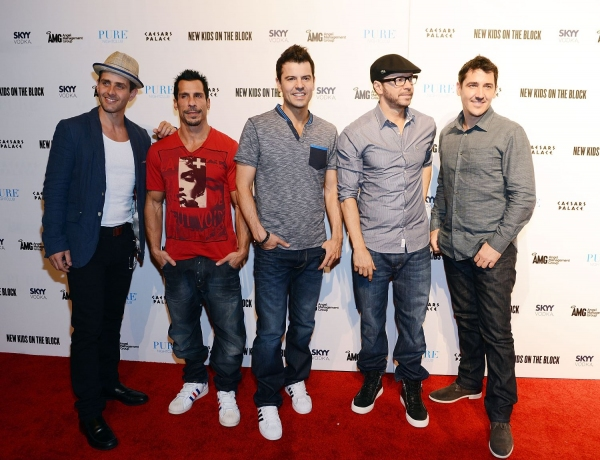 New Kids On The Block: Joey McIntyre, Danny Wood, Jordan Knight, Donnie Wahlberg and Jonathan Knight