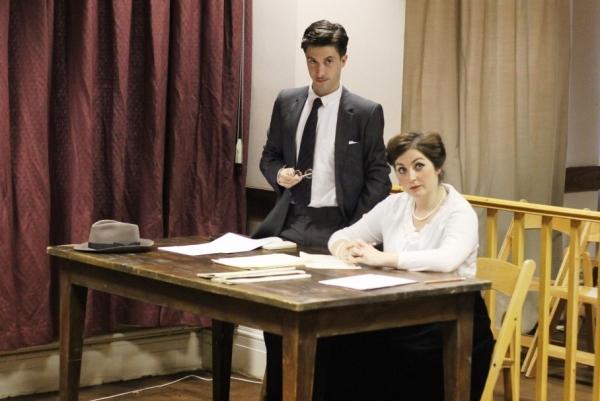 Matt Jessup (Claude Dancer) and Katie Brennan (W. Harcourt Gregory)