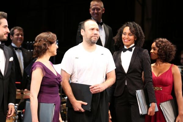 Matthew Saldivar, Judy Kuhn, Eisa Davis and Anika Noni Rose with Conductor Chris Fenwick in the background