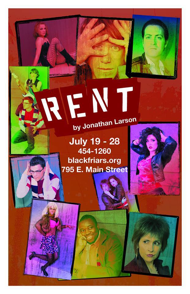 Blackfriars Theatre to Present RENT, Opening 7/19