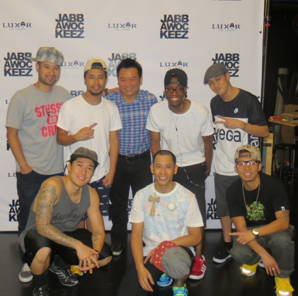 Rex Lee and the Jabbawockeez (Photo Credit: Jabbawockeez)