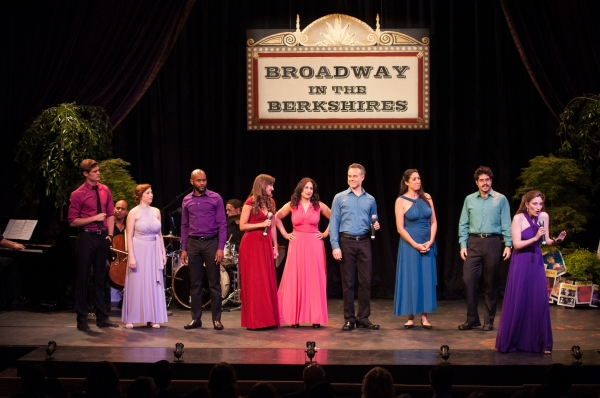 Opening Number (from left to right; Alec Donaldson, Nora Menken, Forrest McClendon, Lauren Jelencovich, Sarah Corey, Jonathan Rayson, Eleni Delopoulos, Ehren Remal, Deborah Grausman)