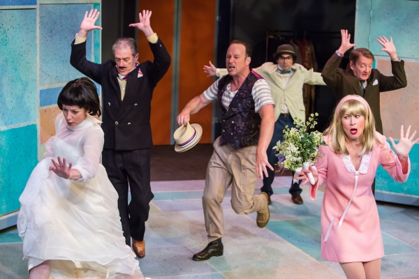 Maureen Porter (Kate), Gary Powell (Baptista), James Farmer (Petruchio), Peter Platt  Photo