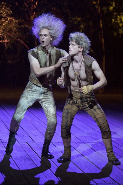 Jay Whittaker as Oberon and Lucas Hall as Puck Photo