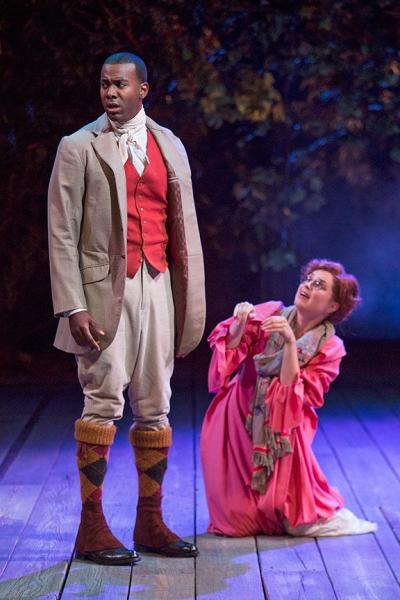Nic Few as Demetrius and Ryman Sneed as Helena Photo