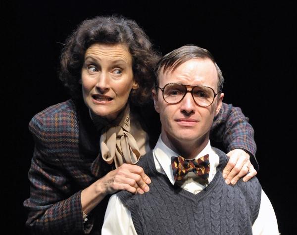 Nesba Crenshaw as Ms. Biddulph and Jay Dunn as Duckett  Photo