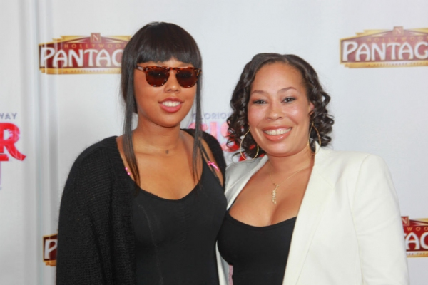 Producer Whoopi Goldberg''s daughter and grand daughter: Alex Martin, Jerzey Martin