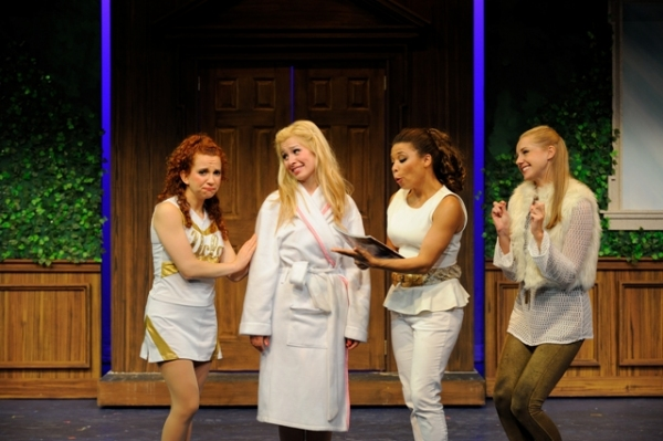 (from left) Arielle Kook as Serena, Alyssa Gorgone as Elle Woods, Jenica Reed as Pilar and Caroline Bateson as Margot