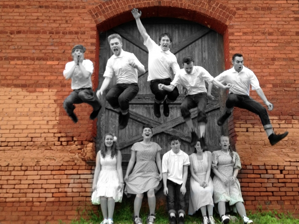 Robby Patterson, Drew Roberts, Devin Johnson, Matthew Reindl, Brian Jordan. Left to right, bottom: Kari Lien, Laura Lien, Jonah Waggoner, Kelly McCarty, McCall Kimball