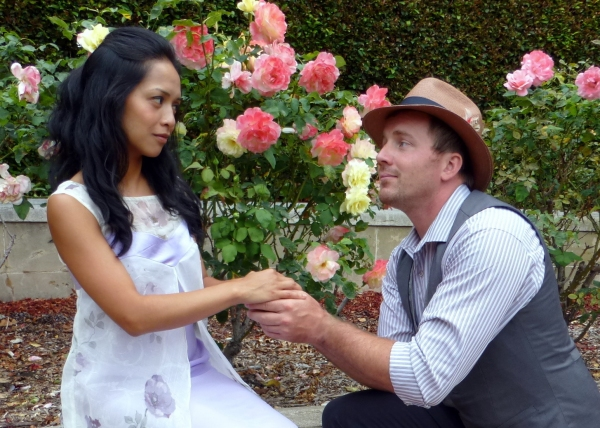 Amielynn Abellera as Lady Windermere, Brian Slaten as Lord Darlington.
