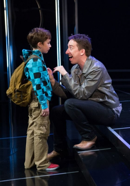 Jesse (Holden Brown, left) gets a few lessons on life and love from Evan (James Gardi Photo