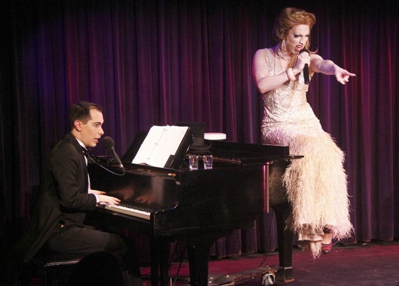 Jinkx Monsoon and Major Scales wow audiences at The Laurie Beechman Theater in The Vaudevillians. (Wilson Models photo)
