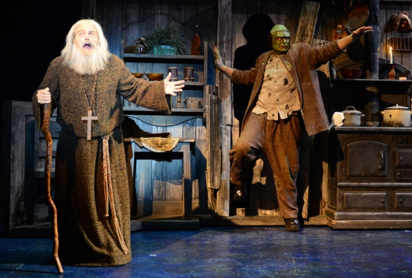 Tom Souhrada (The Blind Hermit), Bradley Nacht (The Monster)
