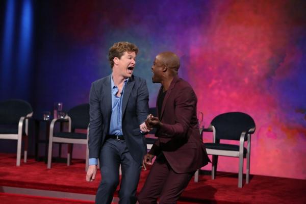 Pictured (L-R): Jonathan Mangum and Wayne Brady