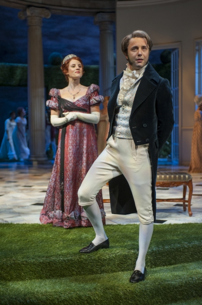 Anna Sundberg (Caroline Bingley) and Vincent Kartheiser (Fitzwilliam Darcy)
