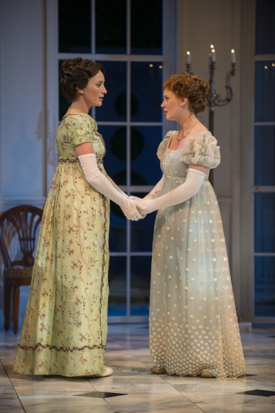 Christine Weber (Jane) and Ashley Rose Montondo (Elizabeth Bennet)