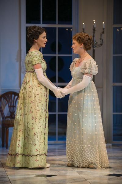 Christine Weber (Jane) and Ashley Rose Montondo (Elizabeth Bennet)