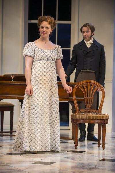 Ashley Rose Montondo (Elizabeth Bennet) and Vincent Kartheiser (Fitzwilliam Darcy) Photo