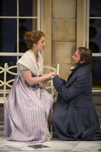 Ashley Rose Montondo (Elizabeth Bennet) and Vincent Kartheiser (Fitzwilliam Darcy)