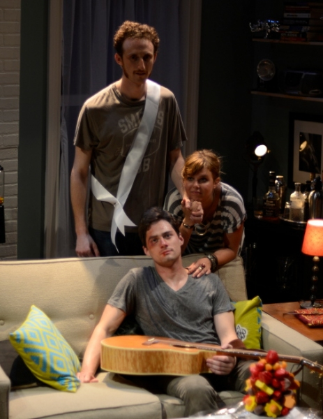 Josh Evans as Eli, JD Taylor as Walter (sitting) and Anna Stromberg as Casey Photo