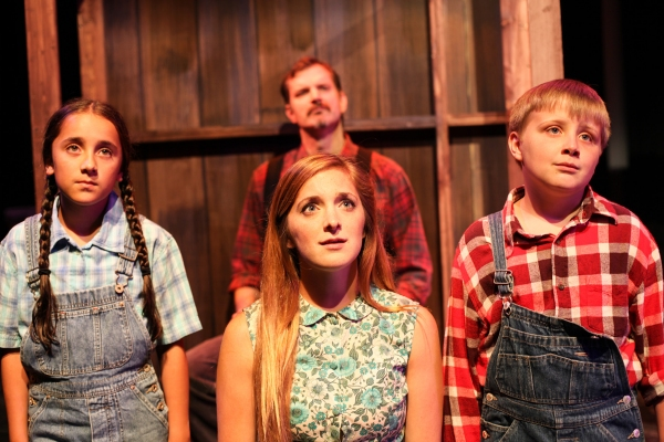 Edward MacLennan with (front, left to right) India Rose Renteria, Haley Jane Schafer  Photo