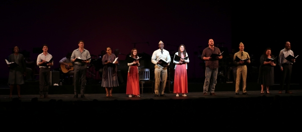 Austin Lesch, Christopher Sieber, Rema Webb, Emerson Steele, Sutton Foster, Joshua Henry, Chris Sullivan, Van Hughes, Keala Settle and Paul Whitty