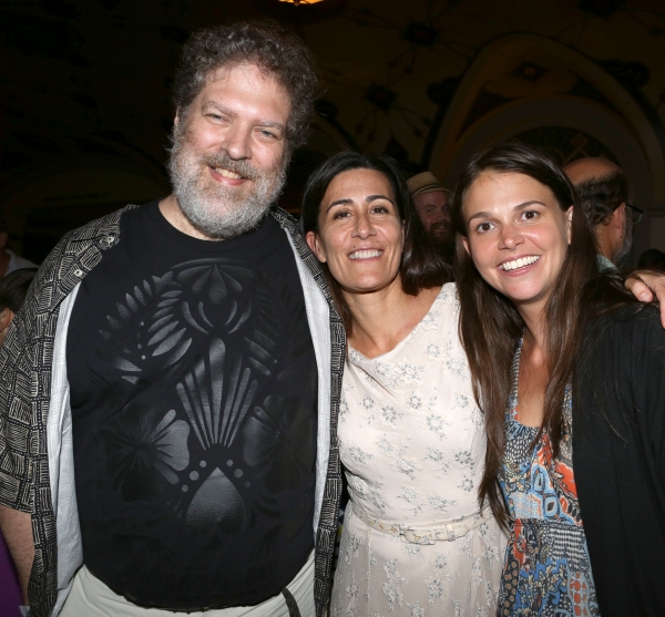 Brian Crawley, Jeanine Tesori and Sutton Foster
