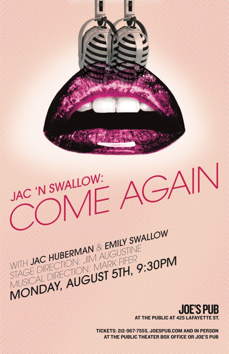 Emily Swallow & Jac Huberman to Bring COME AGAIN to Joe's Pub, 8/5