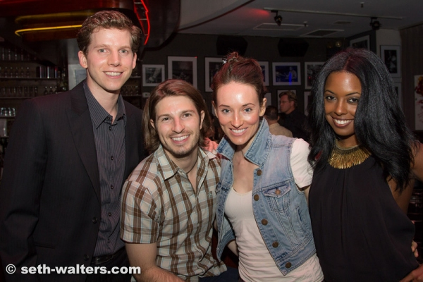 Stark Sands, Jordan Richard, Elizabeth Davis and Adrienne Warren
