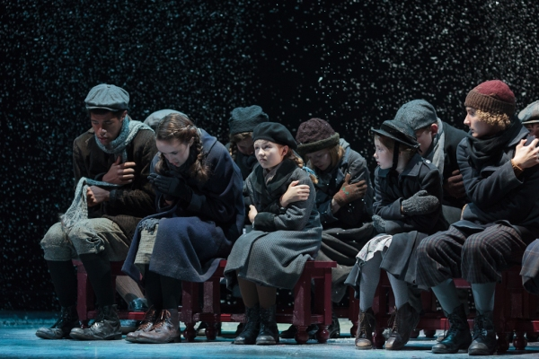 The children''s chorus in The Glimmerglass Festival''s 2013 production of David Lang''s the little match girl passion