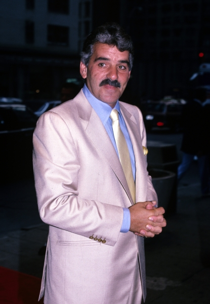 Dennis Farina photographed in New York City in 1990.