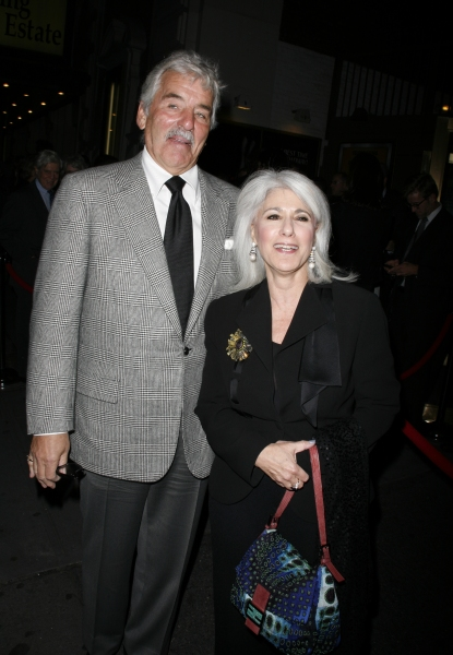 Dennis Farina & Jamie deRoy arriving for the Opening Night Performance of Arthur Miller''s ALL MY SONS at the Gerald Schoenfeld Theatre in New York City. October 16, 2008