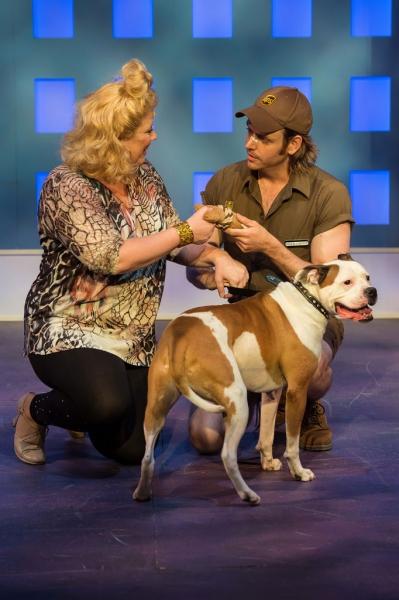 Heather Jane Rolff (Paulette), Scott Guthrie (Kyle) and Romeo (Rufus)
