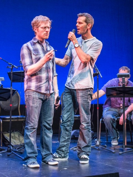 Anthony Rapp and J. Robert Spencer Photo