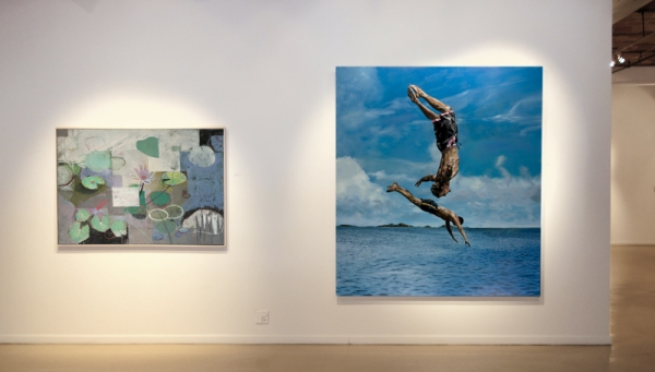 John Evans, The Treasure of All Things, Oil on Canvas, 42'' x 62'';  Eric Zener, Friendship, Oil on Canvas, 82'' x 74''