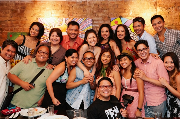 The cast of HERE LIES LOVE meets up with the Filipino American Press Club of New York: (Top) Debralee Daco, Sheila Gaa, Randy Gener, Ruthie Ann Miles, Maria-Christina Oliveras, Jaygee Macapugay, Nathaniel P. Claridad and Jose Llana; (center) Randy Libiran